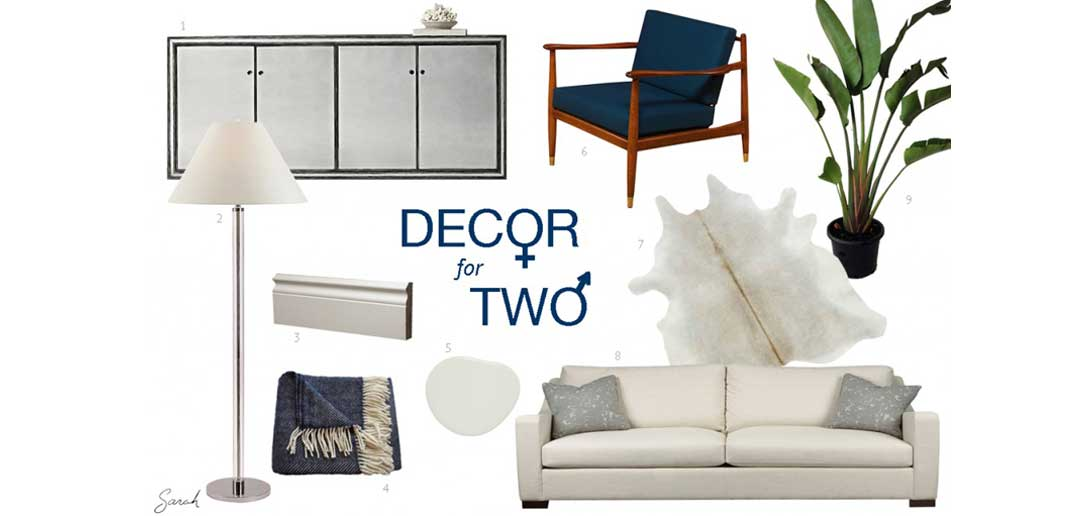 Masculine and Feminine Decor for Two
