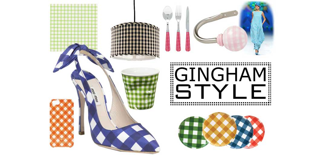 Gingham Style: a Spring and Summer Décor Trend